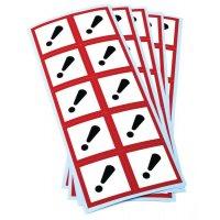Etiquettes CLP en planche Toxicité aigüe catégorie 4 GHS07