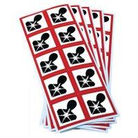 Etiquettes CLP en planche Risques mutagènes GHS08