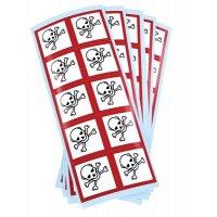 Etiquettes CLP en planche Toxicité aigüe catégorie 1, 2, 3 GHS06