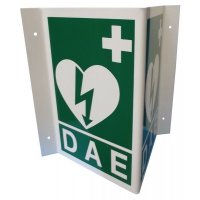 Signalétique défibrillateur 3D ou drapeau