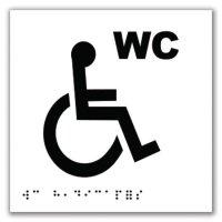 Signalétique braille en PVC WC handicapés