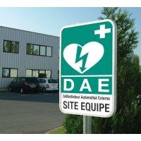 Panneau extérieur site équipé DAE
