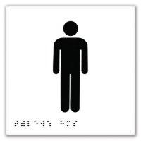 Signalétique braille en PVC Toilettes Hommes