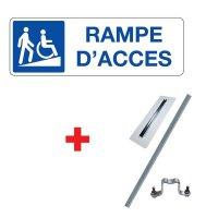 """Kit panneau """"Rampe d'accès"""" handicapés"""