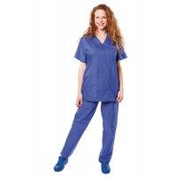 Tunique médicale mixte bleue pour bloc opératoire Tivio