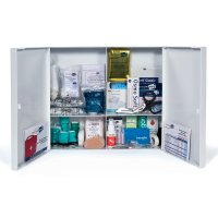 Armoire à pharmacie en ABS 2 portes - garnie