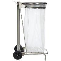 Support sac poubelle à pédale en inox