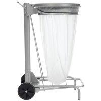 Support à pédale en acier pour sac poubelle 50L