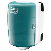Distributeur papier à dévidage central Tork® - turquoise