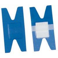 Pansements articulaires bleus détectables