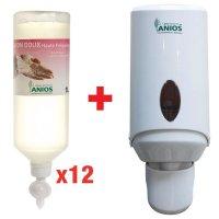 Pack 12 savons doux Anios + 1 distributeur