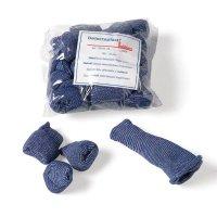 Doigtiers bleus détectables en textile