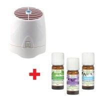 Offre pack diffuseur par ventilation à froid + 3 huiles essentielles