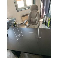 Panneau de protection en plexiglas pour comptoirs et bureaux