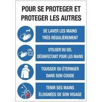 Panneau sur les Gestes de prévention en cas d'épidémie