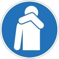 Panneau d'obligation tousser ou éternuer dans son coude