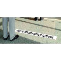 Limite de courtoisie - Veuillez attendre derrière cette ligne