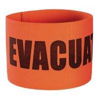 Brassard élastique orange sérigraphié Evacuation