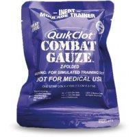 Pansement hémostatique QuikClot Combat Gauze pour formation