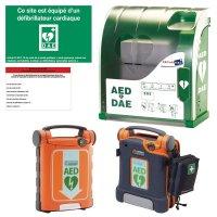 Offre pack DEA/DSA G5 avec ou sans capteur + housse + armoire + panneau + étiquette de maintenance