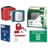 Offre pack défibrillateur HS1 avec housse slim + armoire + kit d'hygiène + signalétique + registre
