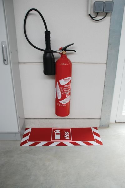 Signalisation au sol incendie Extincteur - Securimed
