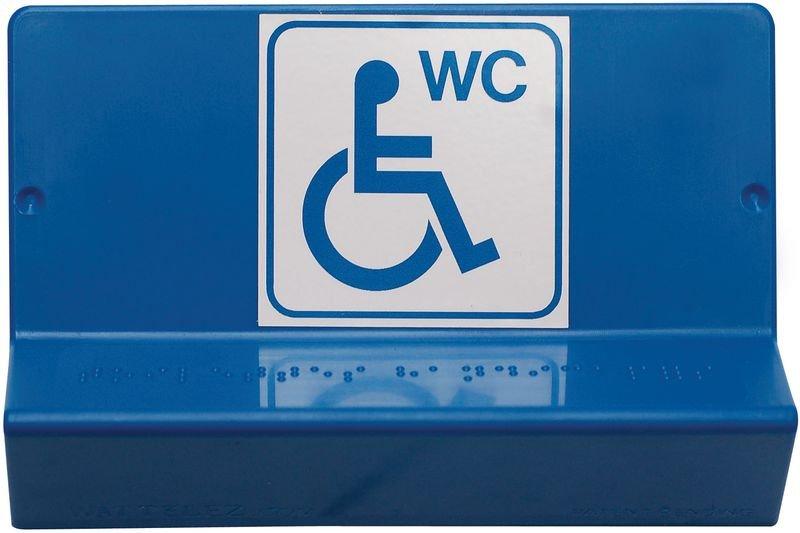 Signalétique braille 3D Toilettes handicapés