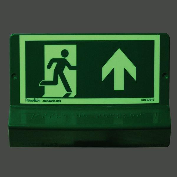 Signalétique braille 3D Sortie de secours haut droite - Securimed