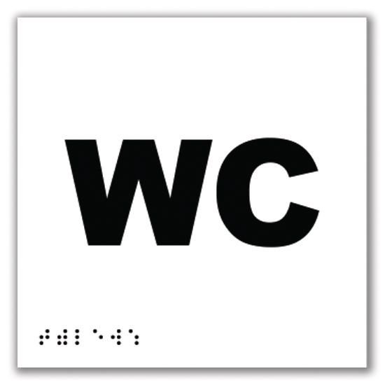 Signalétique braille en PVC WC