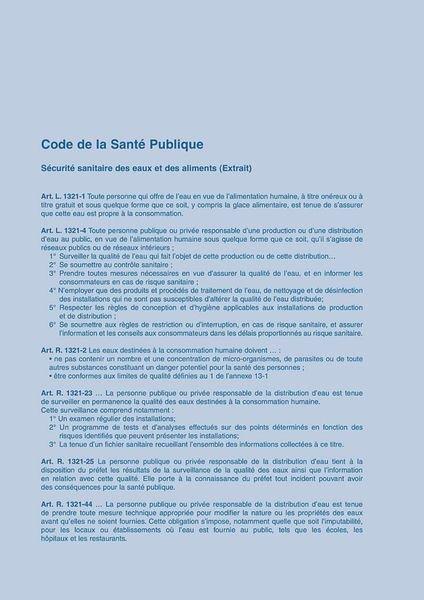 Carnet sanitaire des EAUX et ECS en ERP, EPLE, ERT - Securimed