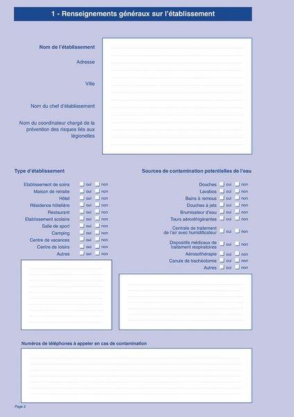 Carnet sanitaire des EAUX et ECS en ERP, EPLE, ERT - Affiches et registres obligatoires