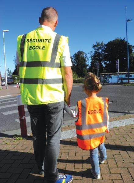 Gilet sécurité école - jaune