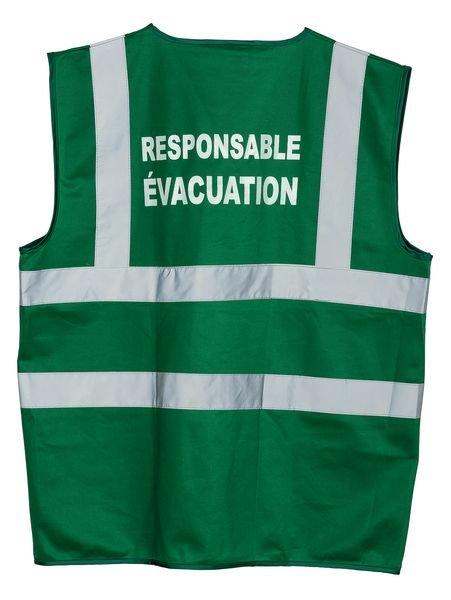 Gilet de sécurité avec marquage Responsable Evacuation