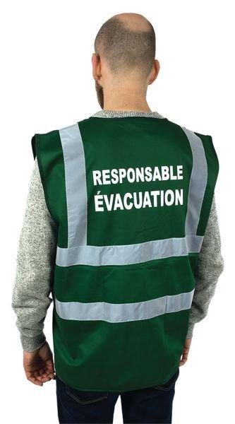 Gilet de sécurité avec marquage Responsable Evacuation - Gilets et chasubles de signalisation