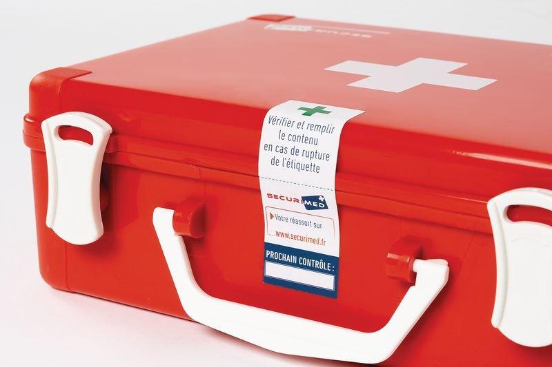 Scellé de contrôle pour trousses et armoires de secours - Securimed