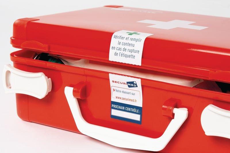 Scellé de contrôle pour trousses et armoires de secours - Pastilles calendrier