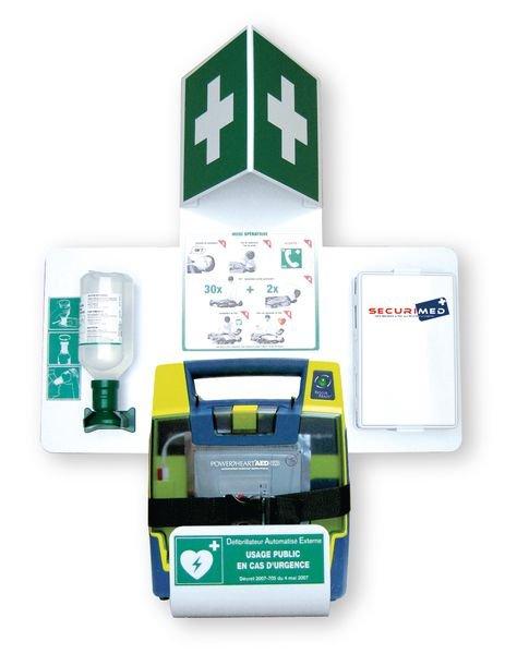 Station pour défibrillateur Powerheart G3 ou G5 - Securimed