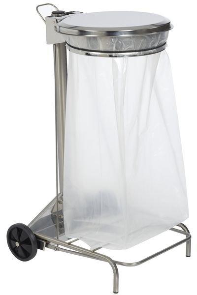 Support sac poubelle à pédale en inox - Securimed