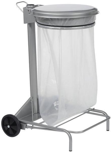 Support à pédale en acier pour sac poubelle 50L - Securimed