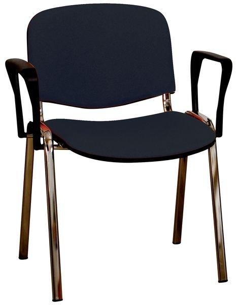 Chaise d'accueil empilable avec accotoirs