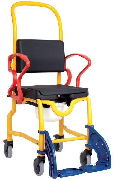 Chaise roulante douche/WC pédiatrique