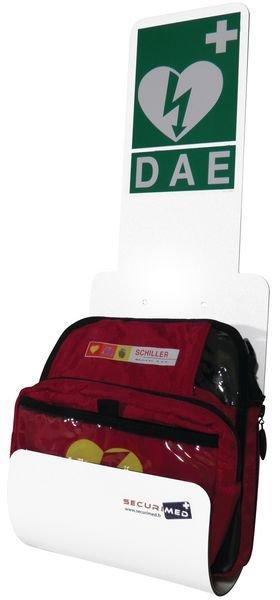 Station pour défibrillateur Zoll AED® Plus ou Schiller - Armoires et supports de défibrillateur