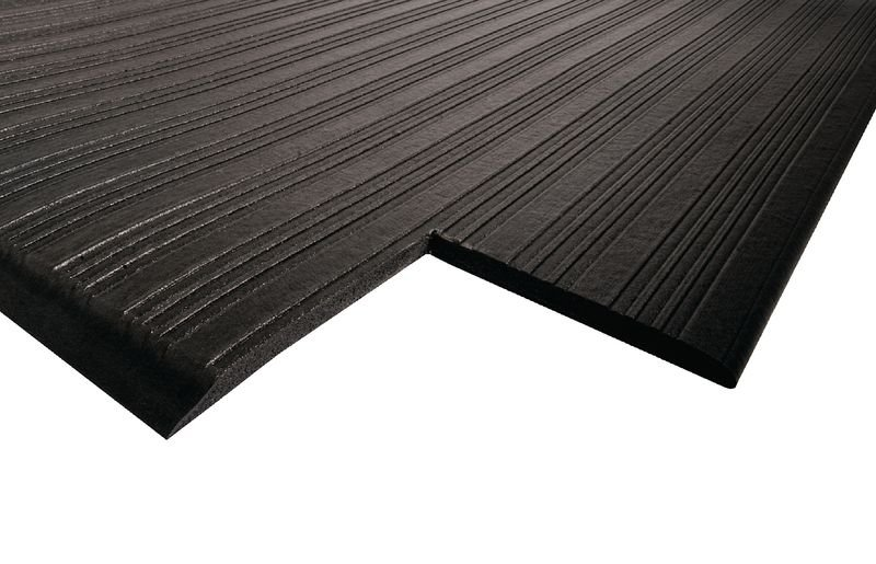 Tapis anti-fatigue noir en rouleau - Securimed