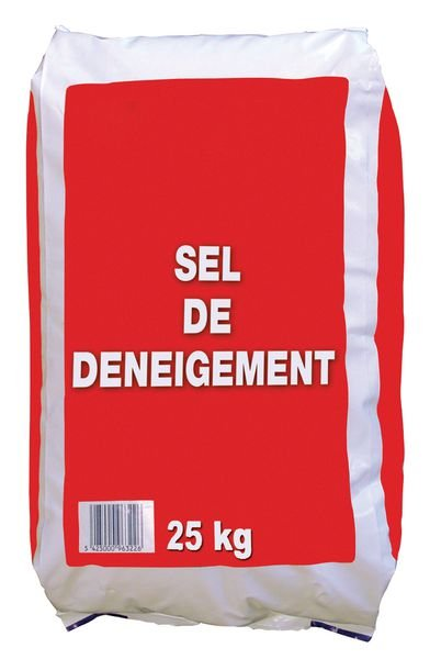 Sel de déneigement en sac de 25 kg