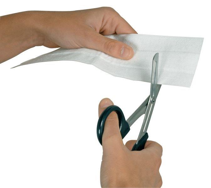 Bande de pansement à découper en non-tissé blanc