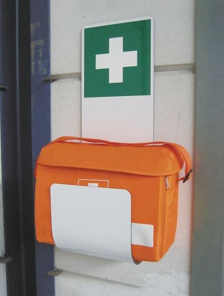 Sacoche médicale de soins d'urgence avec support mural - Securimed