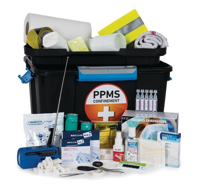 Mallette de secours confinement PPMS 50 personnes