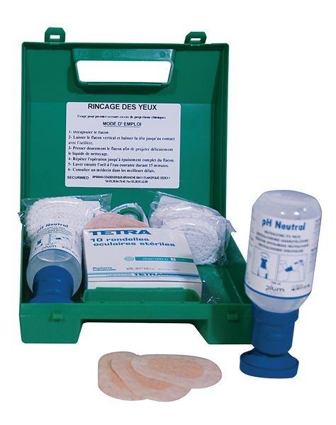 Coffret lavage oculaire pH Neutral - Acides et bases