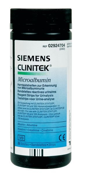 Bandelettes urinaires Microalbumine Clinitek®