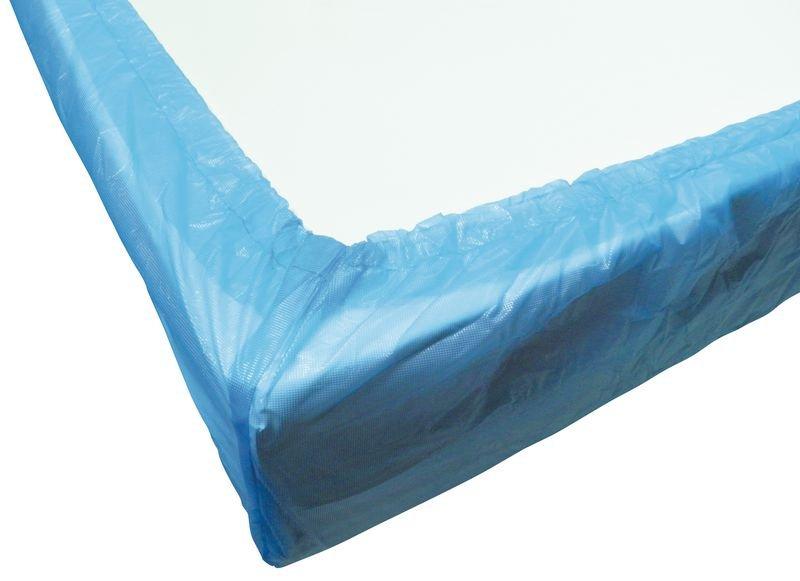 Drap housse jetable plastifié bleu 1 personne - Securimed